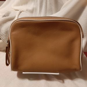 LEATHER COACH COSMETIC BAG
